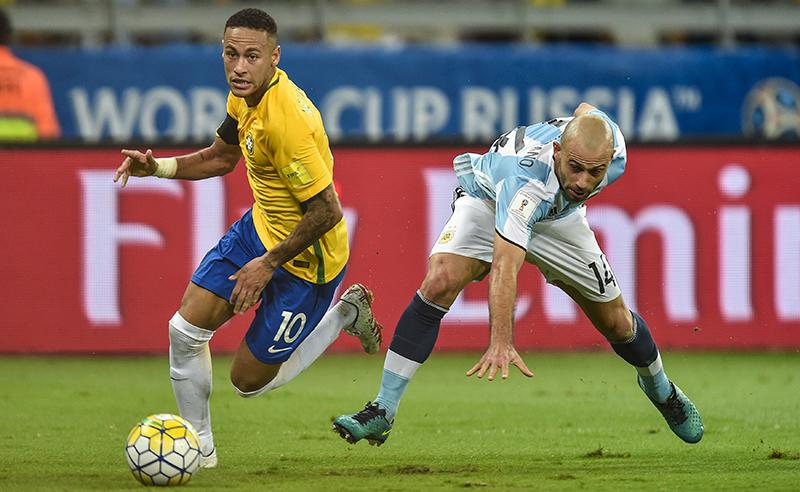 Neymar, do Brasil, e Mascherano, da Argentina, destaques da Copa América