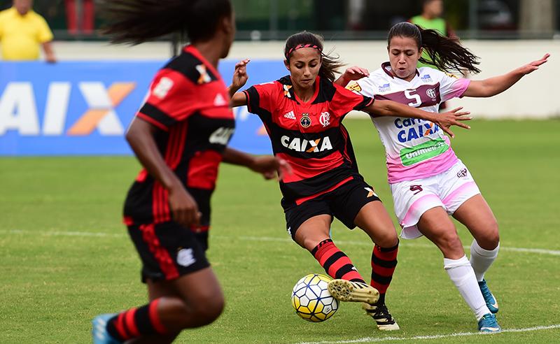 """Campeonato Brasileiro de Futebol Feminino """"Brasileirão Caixa 2017 –  C.R. Flamengo/Marinha X Foz Cataratas/Coritiba"""