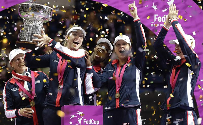 APTOPIX Belarus Tennis Fed Cup