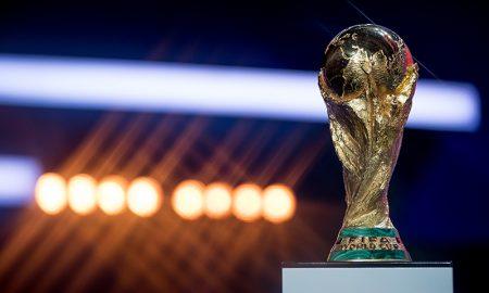 A taça da Copa do Mundo Fifa, disputada a quatro anos no Mundial de futebol