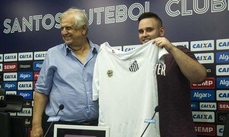 "Guilherme ""GuiFera"" Fonseca é apresentado no Santos. Foto: Ivan Storti / Santos FC"