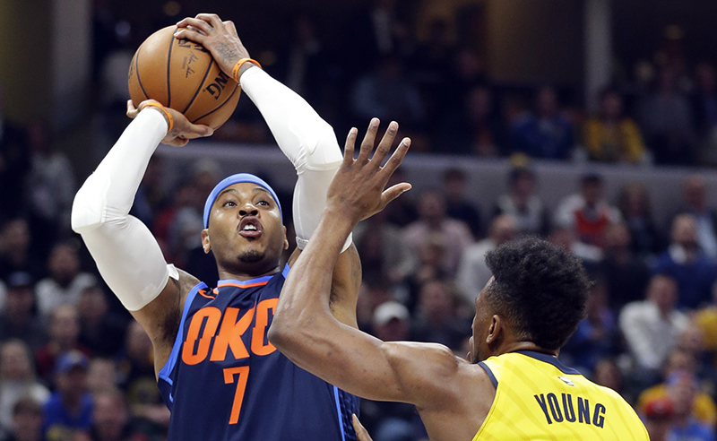 Thaddeus Young,Carmelo Anthony