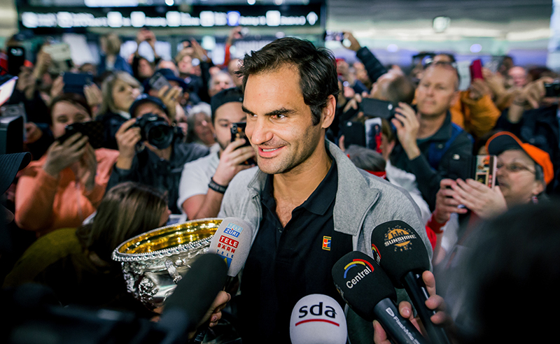 Roger Federer Arrives In Zurich