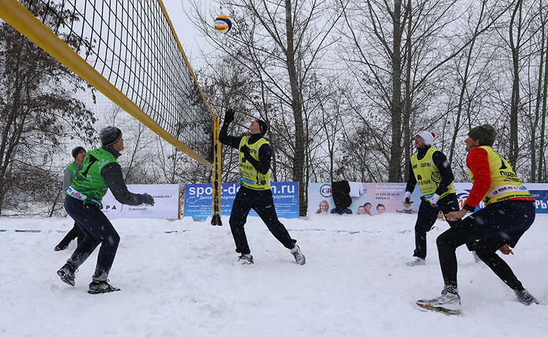 Snow volleyball tournament in support of Russian Olympians in Belgorod