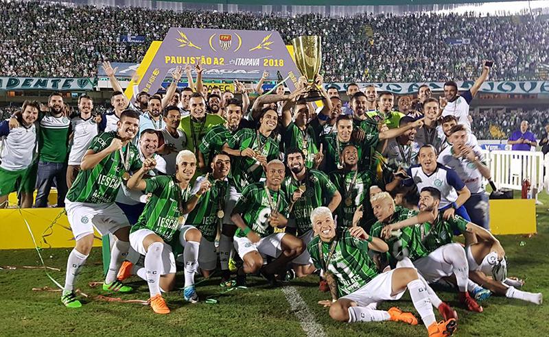 Guarani campeão paulista A2 2018