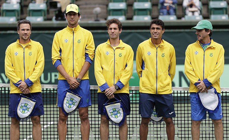 Japan v Brazil – Davis Cup World Group Play-off Day 1