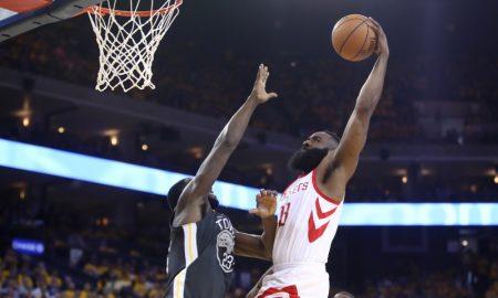 James Harden Houston Rockets v Golden State Warriors