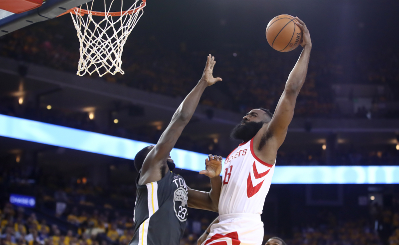 James Harden Houston Rockets v Golden State Warriors