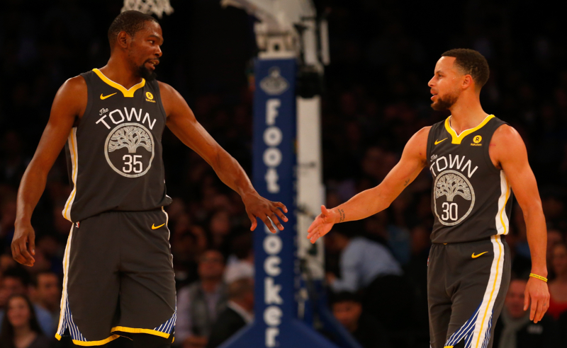 Kevin Durant e Stephen Curry – Golden State Warriors