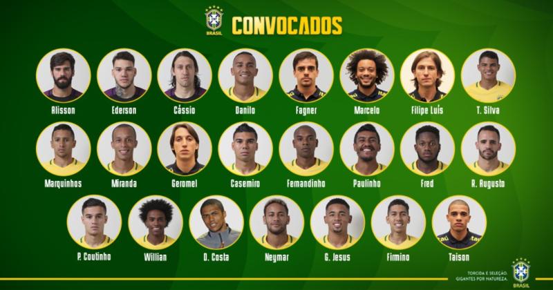 Convocação para a Seleção Brasileira 2018