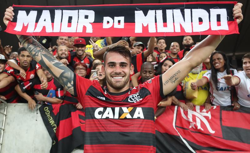 O atacante Felipe Vizeu, do Flamengo, favorito nas casas de apostas no Brasileirão
