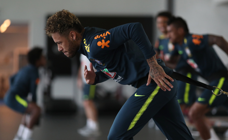 Neymar treino Seleção Brasileira