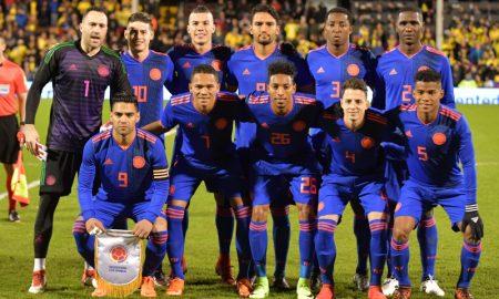 Seleção Colombiana em março de 2018