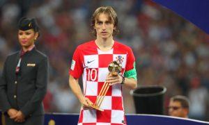 Luka Modric é premiado na final da Copa do Mundo de 2018, na Rússia