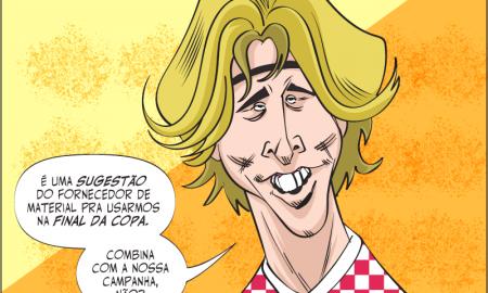 Modric, da Croácia, finalista da Copa de 2018 e zebra nas apostas