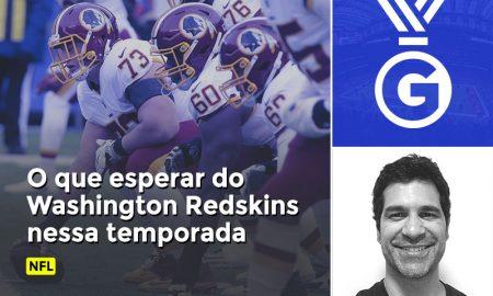 Prognóstico em vídeo de Paulo Antunes sobre a temporada dos Redskins pelo NFL.