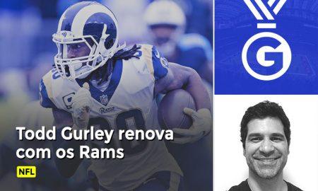 Paulo Antunes comenta em vídeo a renovação de Todd Gurley com o Los Angeles Rams na NFL.