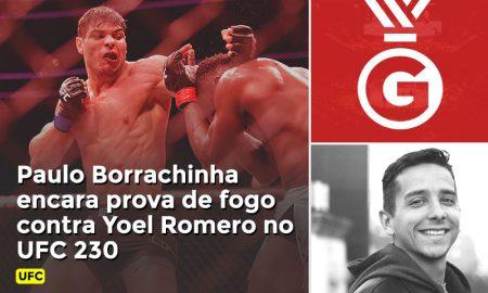 Prognóstico de Coutinho em vídeo para a luta entre Paulo Borrachinha e Yoel Romero no UFC 230.