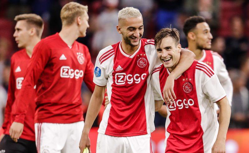 Hakim Ziyech e Nicolas Tagliafico do Ajax