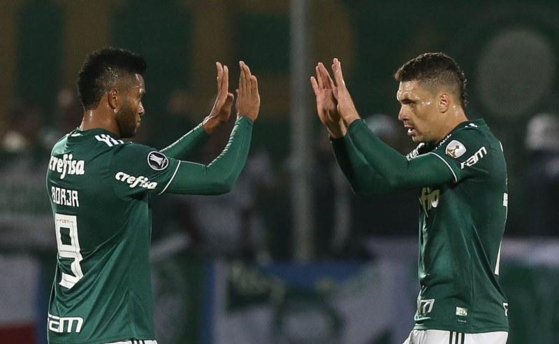 Borja comemora gol do Palmeiras