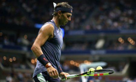 Rafael Nadal em partida contra David Ferrer