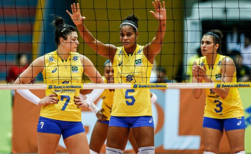 Jogadoras da Seleção Brasileira de Vôlei Feminino