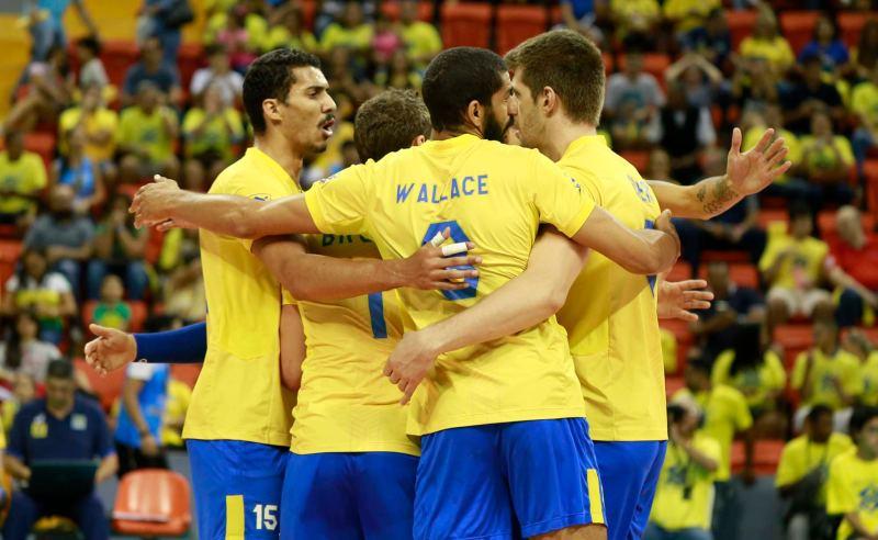 Jogadores da Seleção Brasileira de Vôlei Masculino