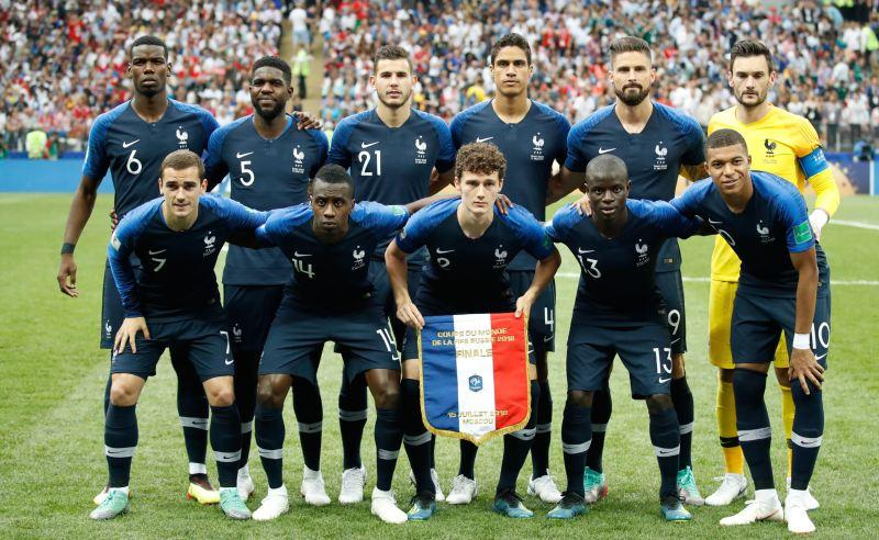 Seleção Francesa na final da Copa do Mundo 2018
