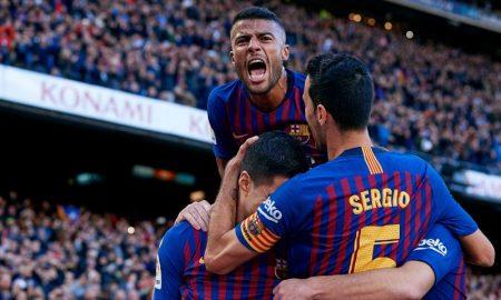 Rafinha e outros jogadores do Barcelona