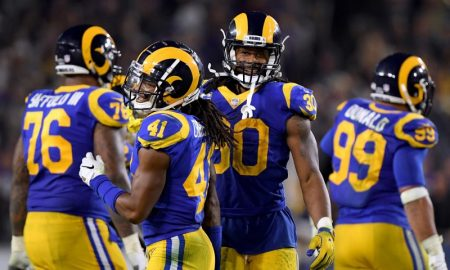 Todd Gurley e Marqui Christian do Los Angeles Rams