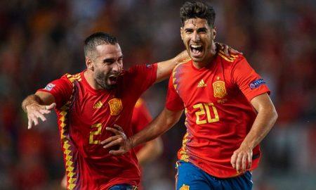 Marco Asensio e Dani Carvajal da Seleção espanhola
