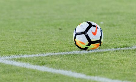 Um close-up na bola de futebol Nike. Fotógrafo: David Madison/Getty Images