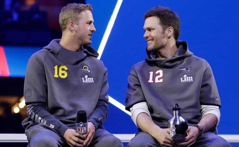 Goff e Brady
