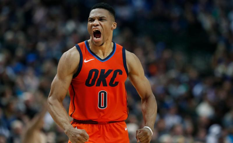 Russell Westbrook dos Oklahoma City Thunder
