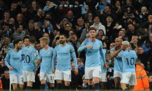 Jogadores do Manchester City