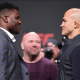 Francis Ngannou encara Junior Cigano antes do UFC Minneapolis