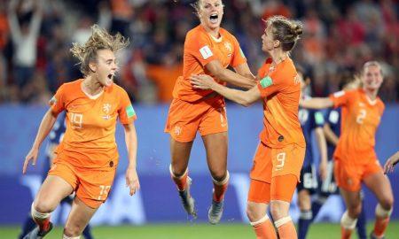 Jogadoras da Seleção Holandesa