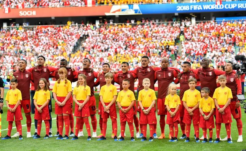 Jogadores da Seleção Peruana