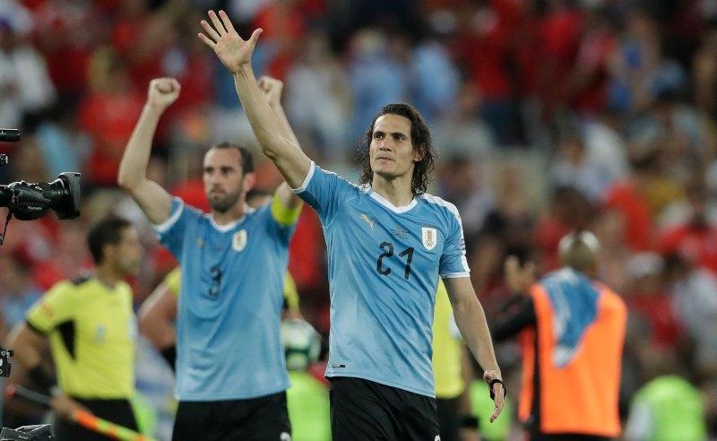 Jogadores da Seleção Uruguaia