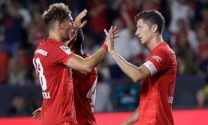 Robert Lewandowski e Leon Goretzka do Bayern de Munique