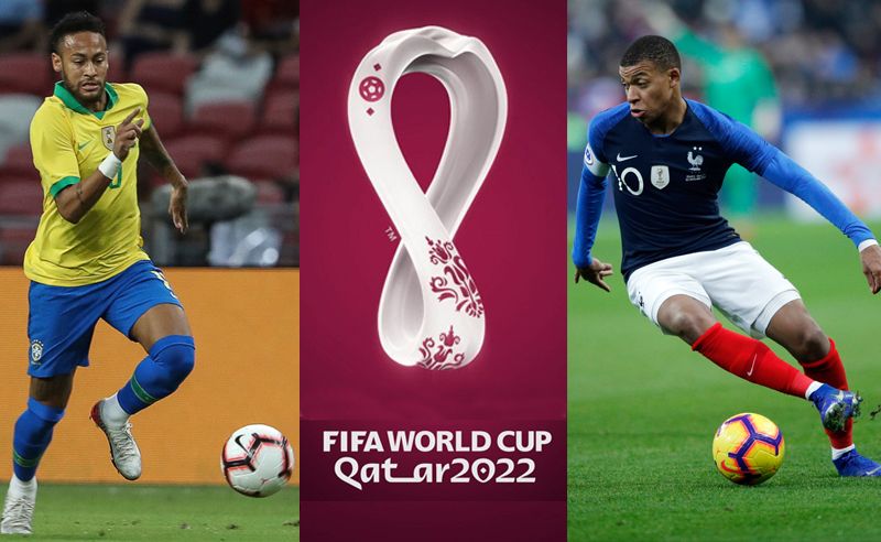 Neymar do Brasil e Mbappé da França Qatar 2022