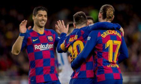 Jogadores do Barcelona