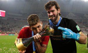 Firmino e Alisson do Liverpool