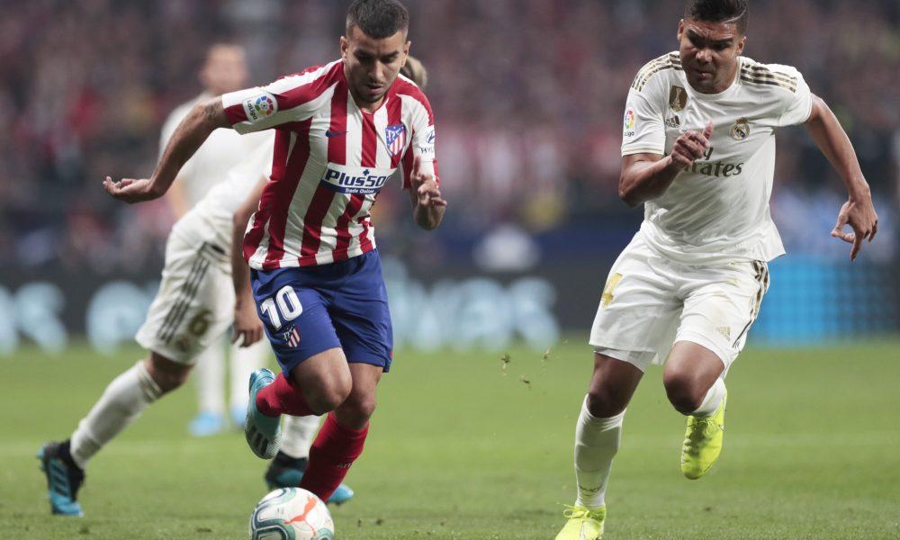 Casemiro do Real Madrid e Correa do Atletico de Madri