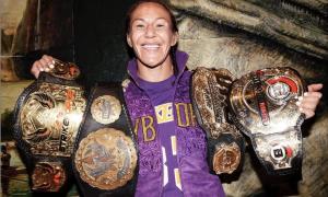 Cris Cyborg é campeão peso pena do Bellator