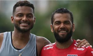 Dani Alves e Reinaldo do SPFC