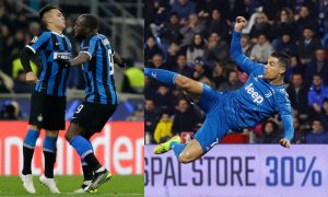 Cristiano Ronaldo da Juventus e Lukaku e Martinez da Internazionale