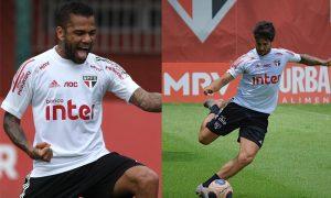 Dani Alves e Pato do São Paulo