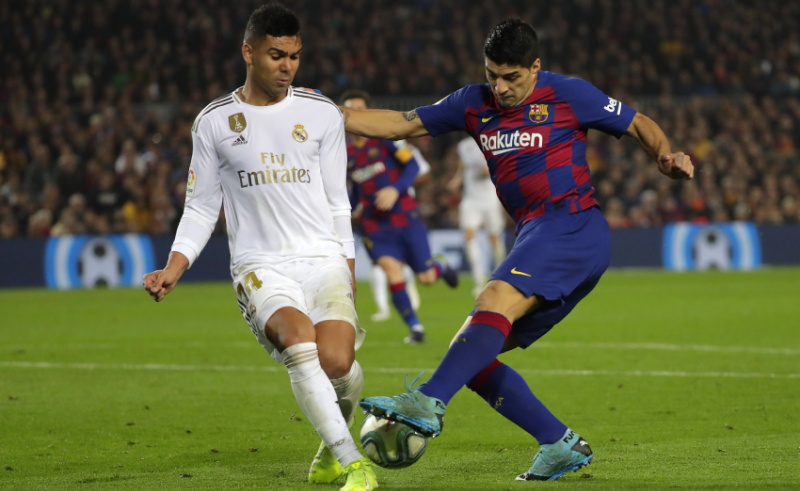 Suárez do Barcelona e Casemiro do Real Madrid