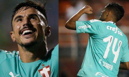 Willian e Gustavo Scarpa do Palmeiras
